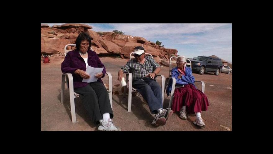 Video Poslední indiáni z kmene Navaho bojují za právo na své území