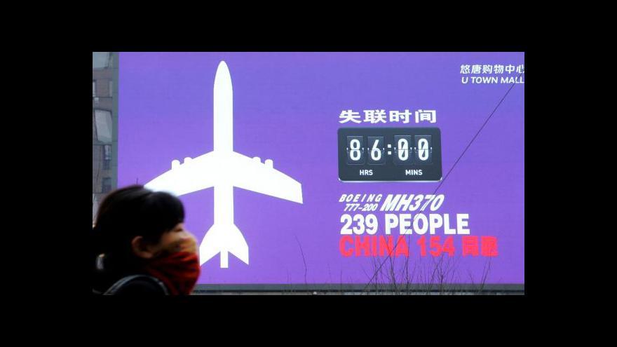 Video Události: Pátrání po zmizelém letounu zatím neúspěšné