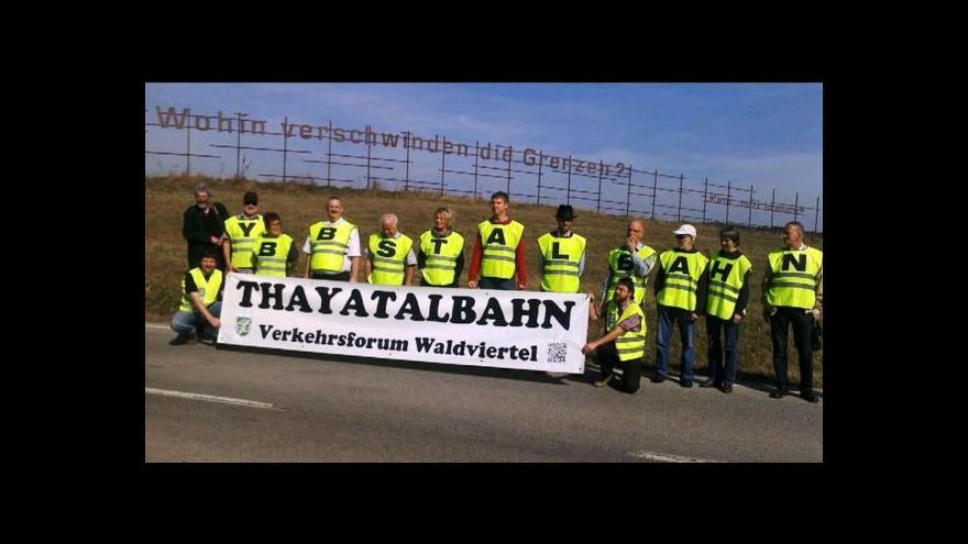 Video Lidé ve Slavonicích protestovali proti kamionové dopravě