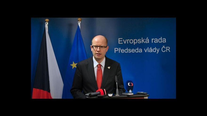 Video Sobotka: EU musí vidět situaci na Ukrajině realistickýma očima