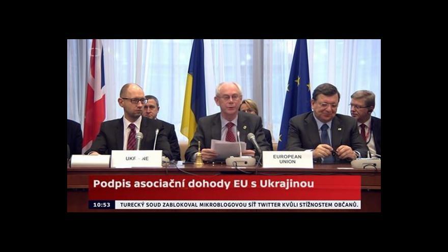 Video Podpis asociační dohody EU s Ukrajinou