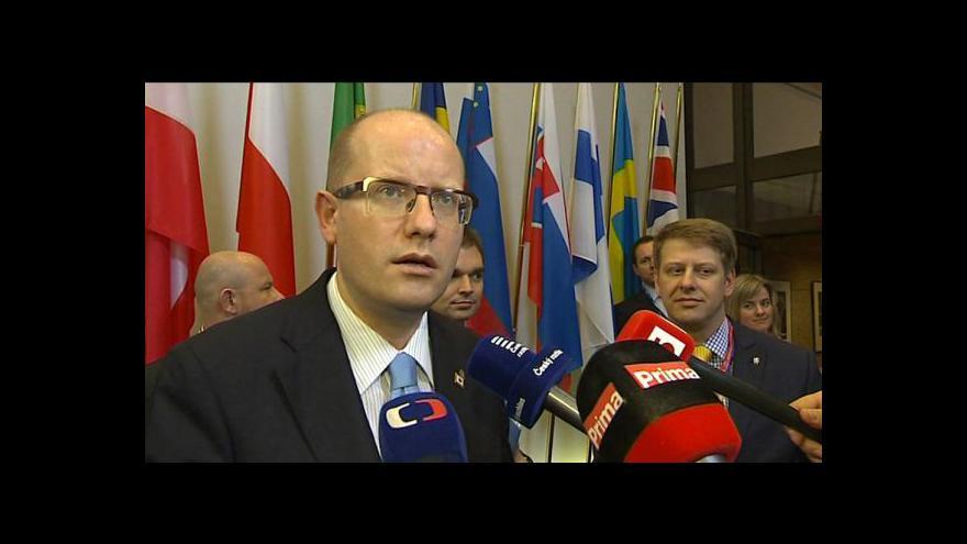 Video Sobotka chce na summitu EU otevřít téma energetické bezpečnosti