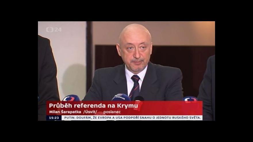 Video Poslanec Milan Šarapatka po návratu z Krymu