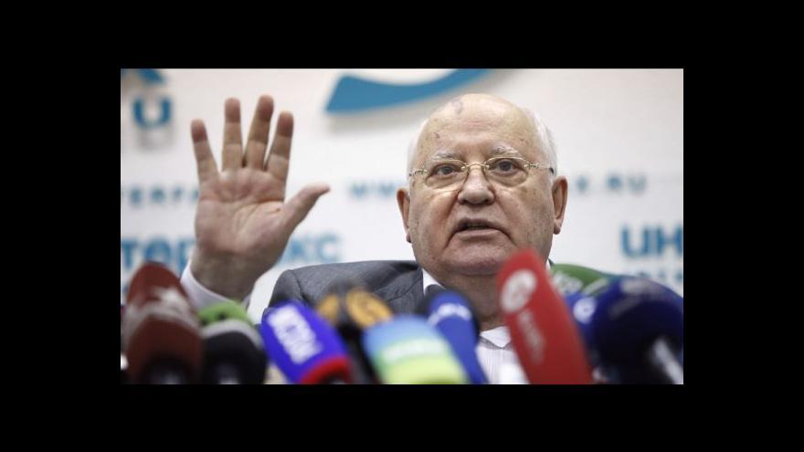 Video Gorbačov obhajuje připojení Krymu k Rusku