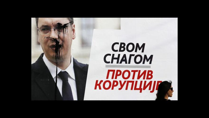 Video Srbské volby ovládl favorizovaný Vučić