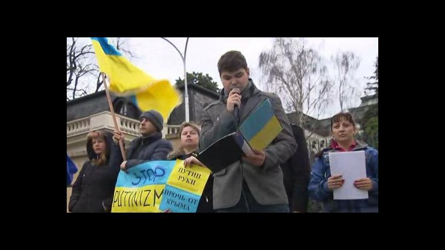 Video Bez komentáře: Demonstrace na podporu Ukrajiny v Praze