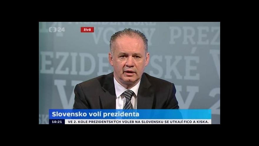 Video Kiska v ČT24: Lidé jsou znechucení tradičními politiky