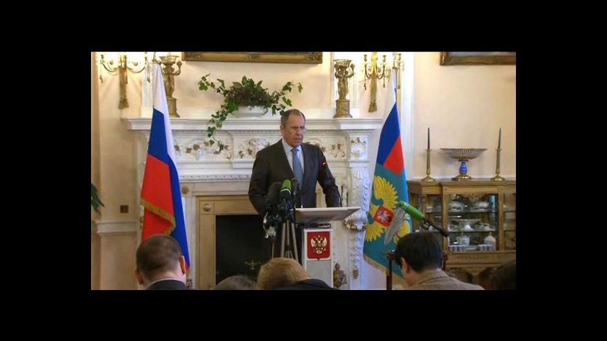 Video Brífink Sergeje Lavrova po jednání s Johnem Kerrym