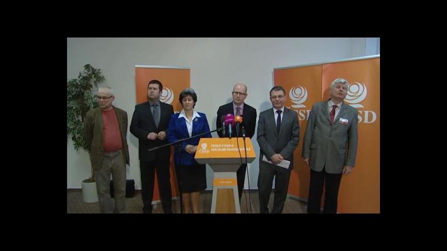 Video Brífink po konferenci ČSSD