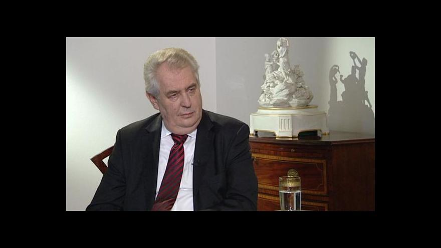 Video Rozhovor Jakuba Železného s prezidentem Milošem Zemanem