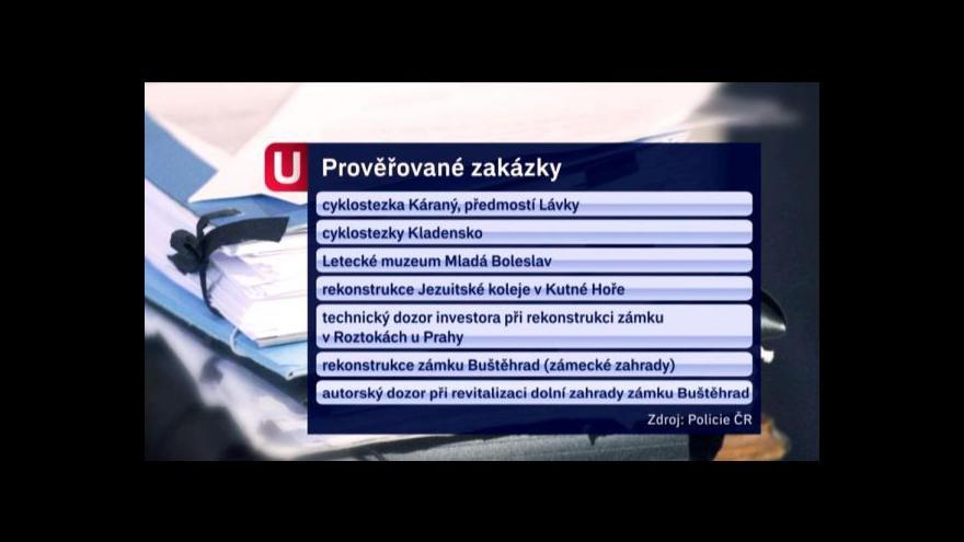 Video Události: Policie se zajímá o další zakázky Středočeského kraje
