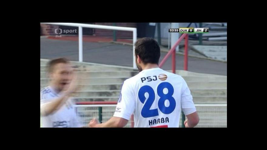 Video Gól v utkání Dukla - Jihlava: Harba - 0:2 (54. min.)