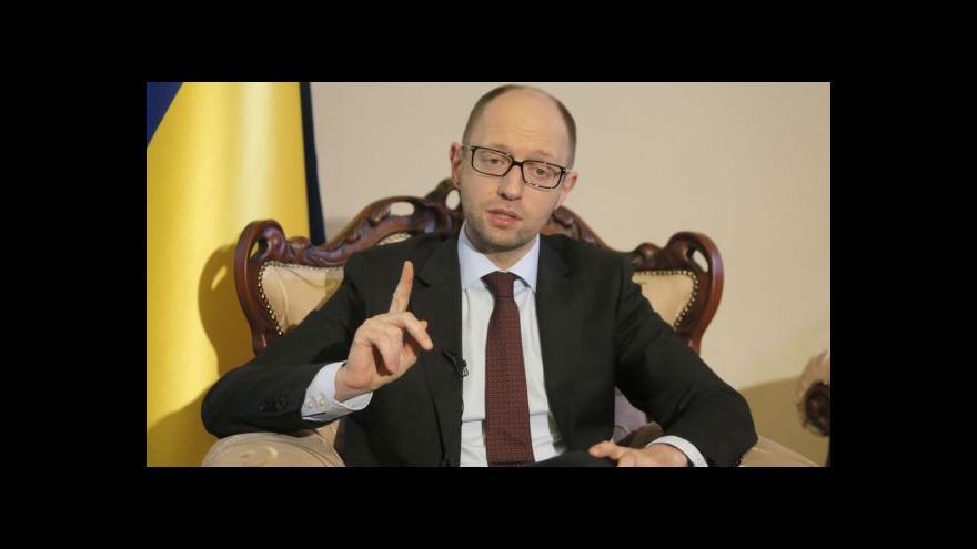 Video Jaceňuk: Ukrajina nebude filiálkou Ruska