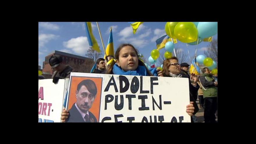 Video Ve Washingtonu se demonstrovalo proti ruské invazi