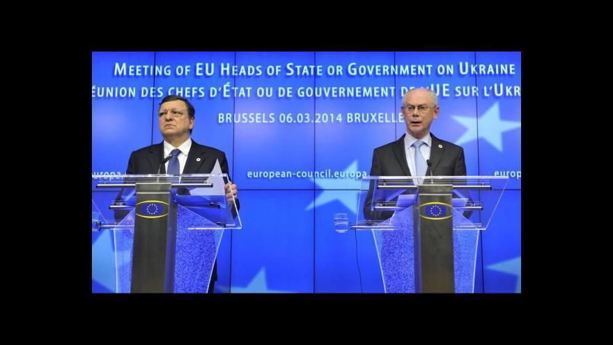 Video TK po summitu Evropské unie k ukrajinské krizi