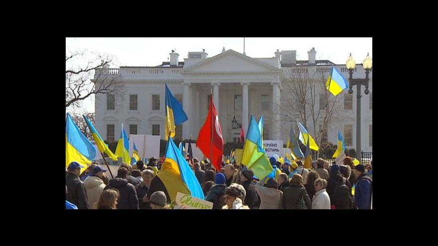 Video Ve Washingtonu demonstrovaly stovky Ukrajinců