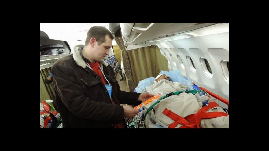 Video Události o dalším leteckém speciálu pro zraněné Ukrajince