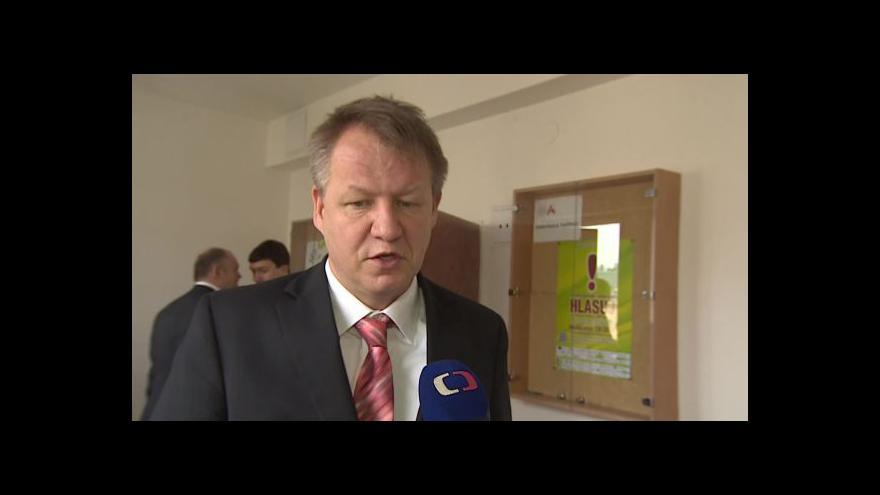 Video Ministr zdravotnictví Svatopluk Němeček (ČSSD) o jednání