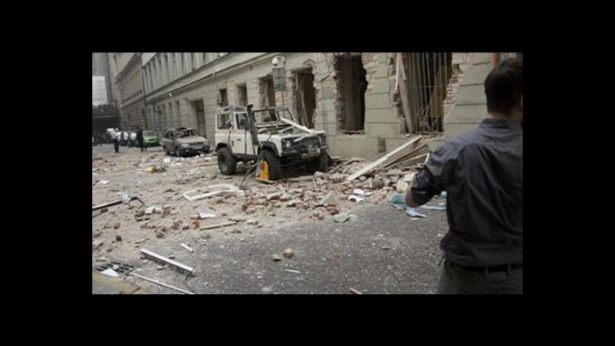 Video Výbuch v Divadelní ulici - záznam od Policie ČR