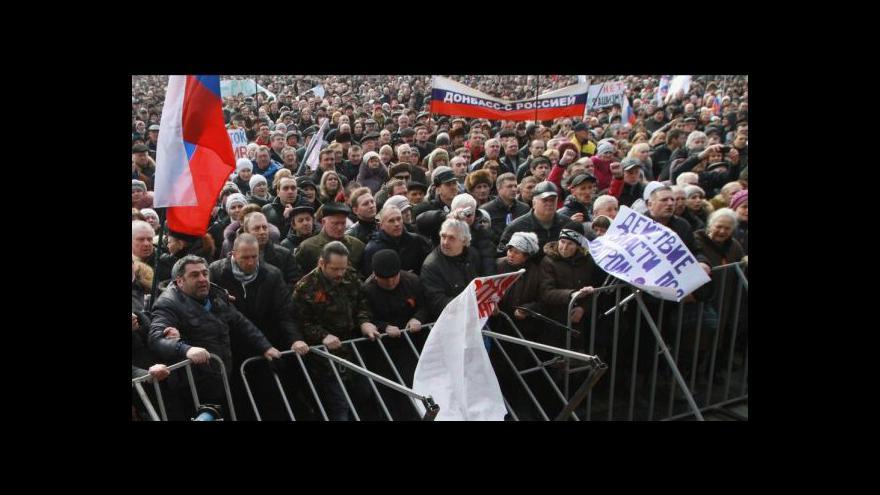 Video Proruský východ Ukrajiny protestuje proti nové vládě
