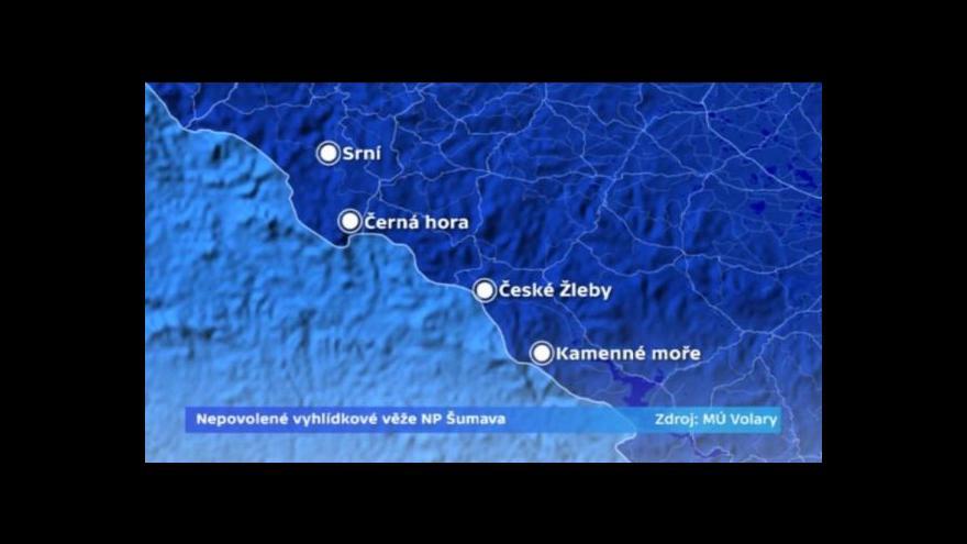 Video Šumava postavila několik vyhlídek bez stavebního povolení