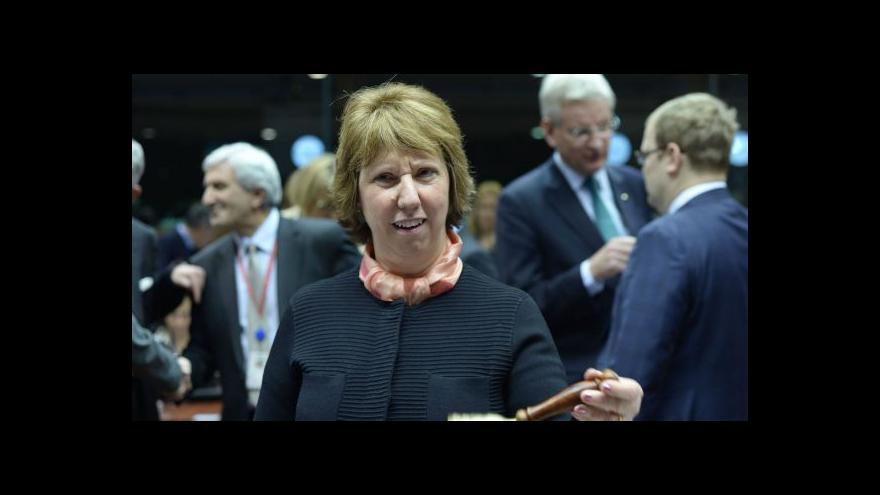 """Video Ashtonová: EU je připravena použít """"cílená opatření"""" proti Rusku"""