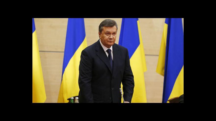 Video Janukovyč: Krym musí patřit do široké Ukrajiny