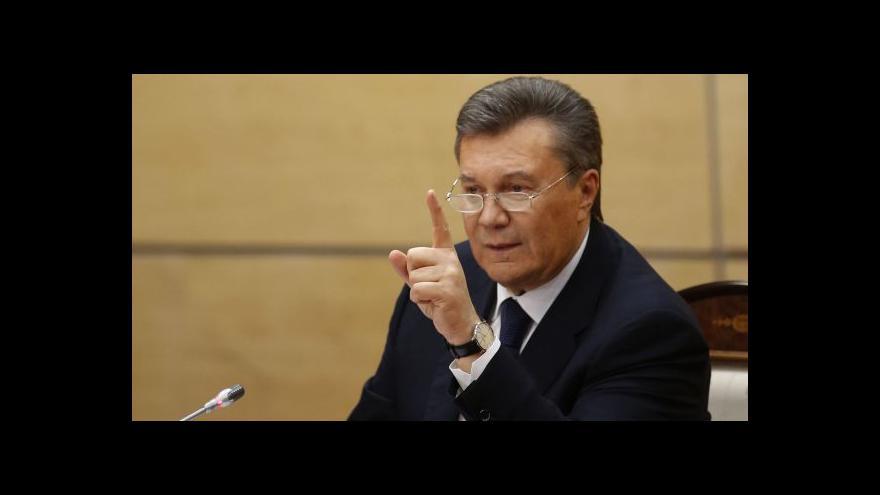 Video Reportáž: Janukovyč nabídl světu svůj pohled na situaci na Ukrajině
