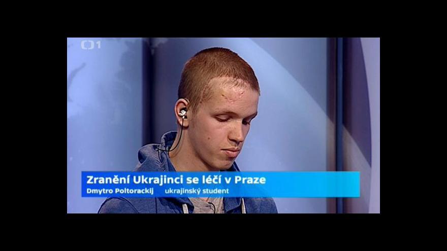 Video Zraněný student Dmytro Poltorackij: Ještě musíme hodně udělat