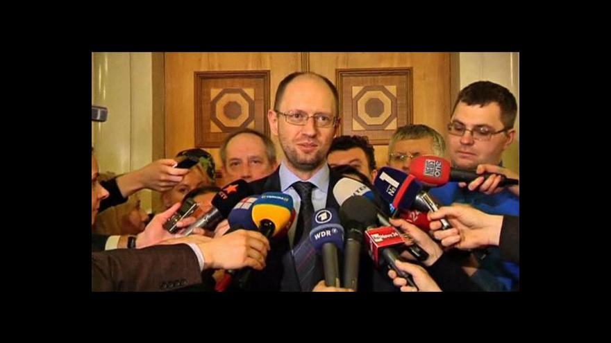 Video Novým ukrajinským premiérem by se měl stát Arsenij Jaceňuk