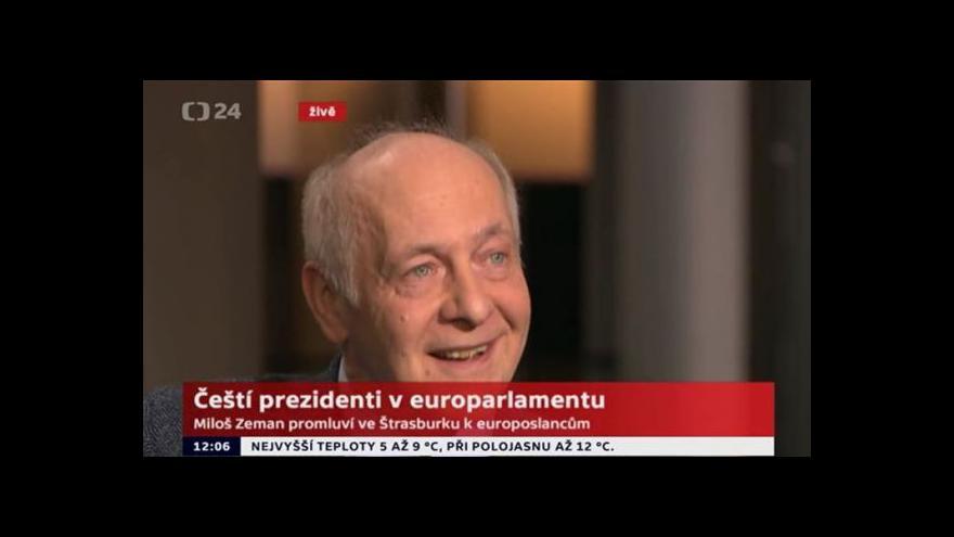 Video Politolog Rupnik: Zeman se v projevu od svých předchůdců odlišil
