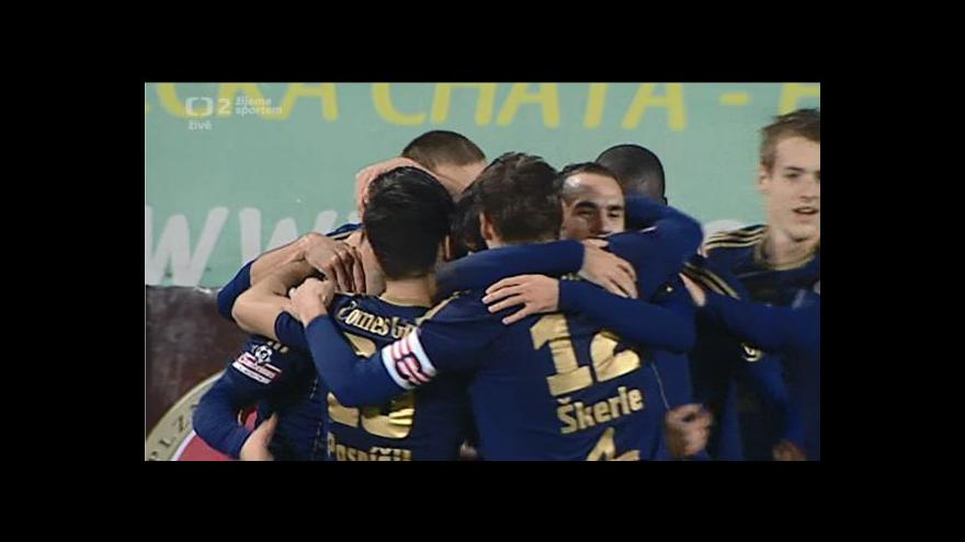 Video Gól v utkání Olomouc - Slavia: Depetris - 3:0 (29. min.)