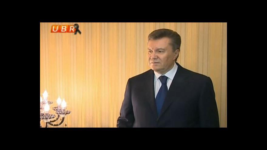 Video Janukovyč pro TV: Jsme svědky státního převratu