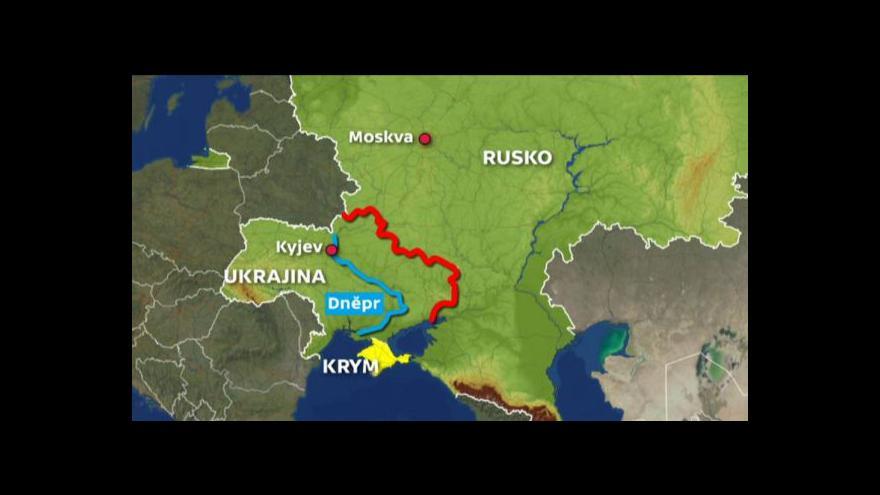 Video Ukrajina jako historicky rozdělená země