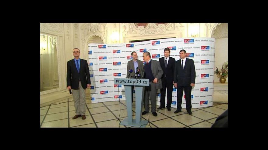 Video TOP 09 povede do evropských voleb Luděk Niedermayer