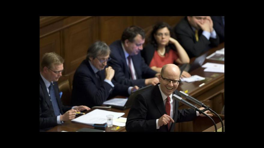 Video Sobotkova vláda získala důvěru sněmovny