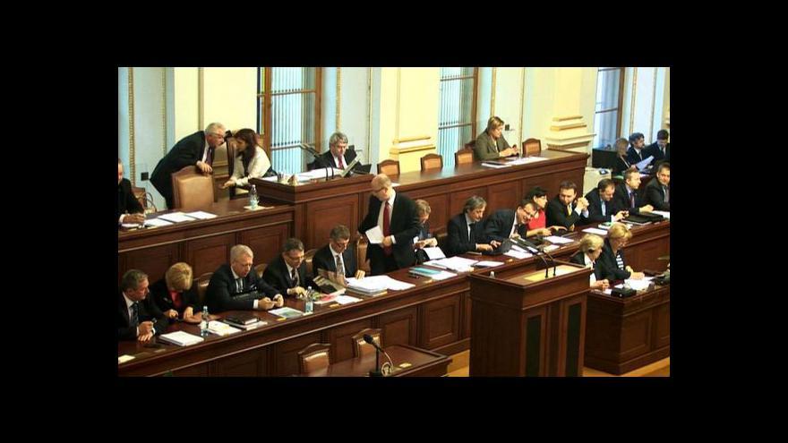 Video Projev Miloše Zemana ve sněmovně