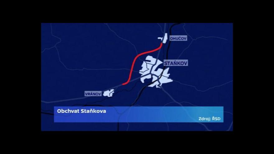 Video Do konce roku 2015 kolem Staňkova už po obchvatu