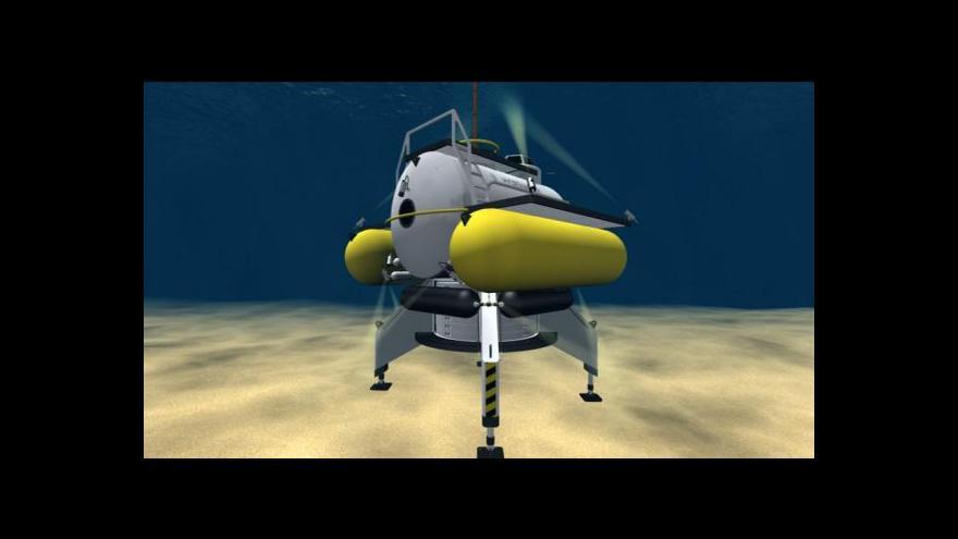 Video Hydronaut se příští rok možná ponoří do slapské přehrady