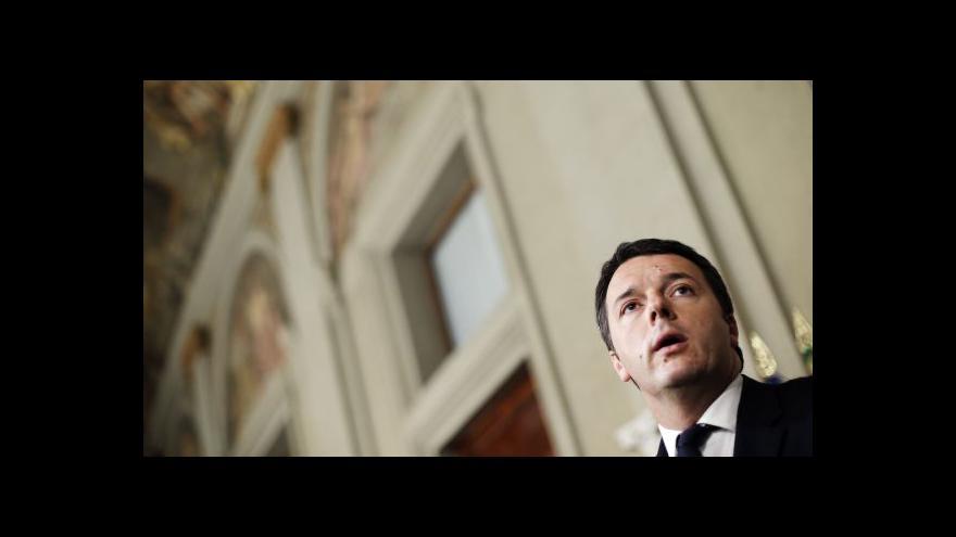 Video Italský prezident pověřil sestavením vlády Renziho