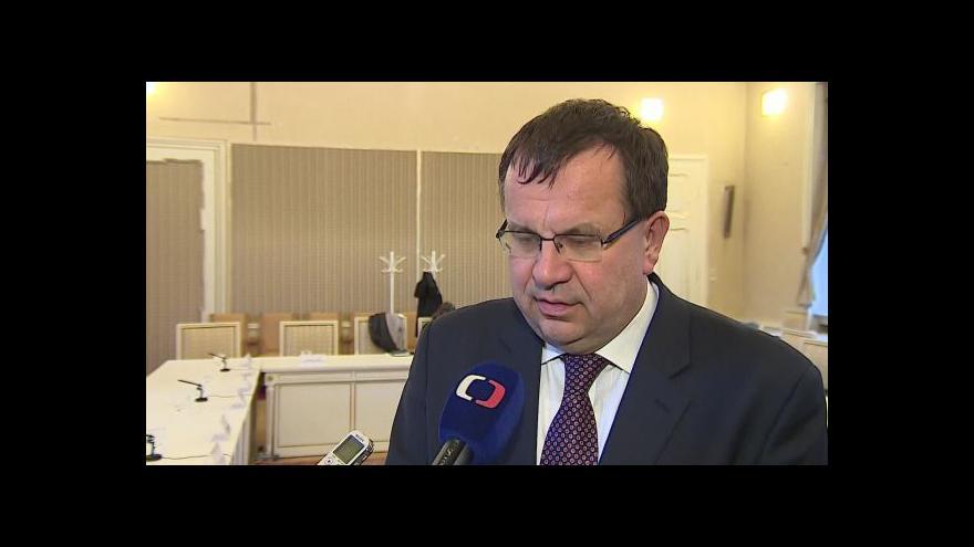 Video Hovoří ministr průmyslu a obchodu Jan Mládek (ČSSD)