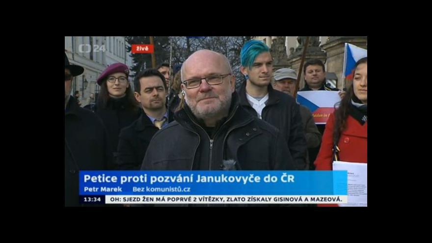 Video Protest proti návštěvě Viktora Janukovyče
