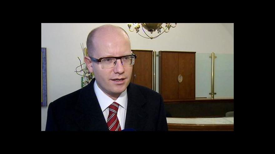 Video Bohuslav Sobotka k obvinění Nečase