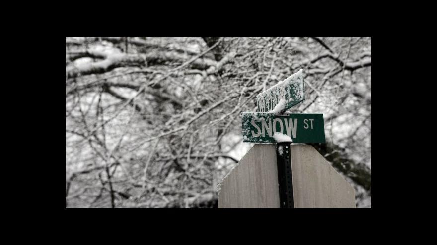 Video Jih USA zasáhla sněhová bouře