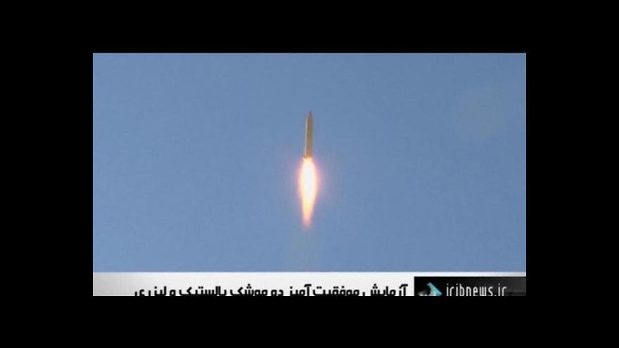 Video Írán vyzkoušel dva druhy nových balistických raket