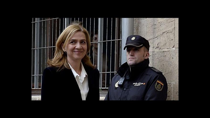 Video Španělská princezna poprvé v historii před soudem