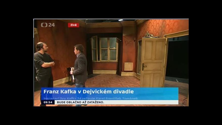 Video Režisér Jan Mikulášek: Nechceme bulvarizovat Kafkovu smrt