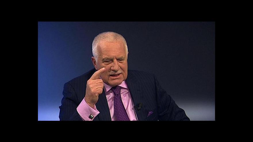 Video Klaus: Bojím se vlády v modelu Evropské unie