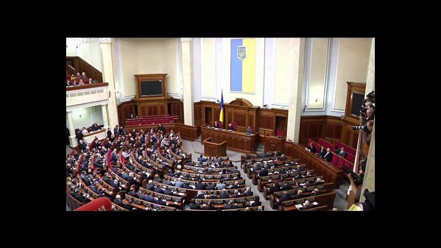Video Ukrajinský parlament jedná o změnách pravomocí prezidenta