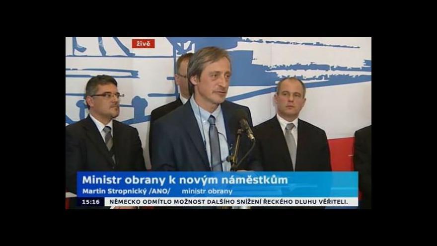 Video Brífink ministra obrany - představení náměstků